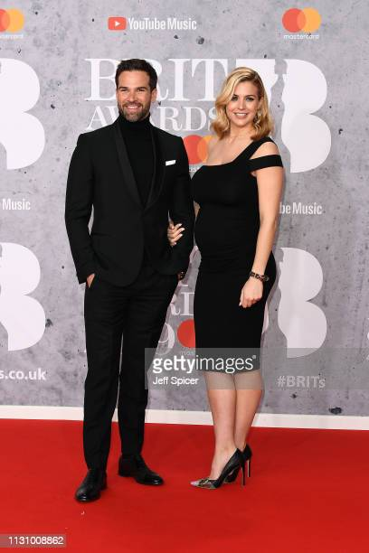 Gethin Jones and Gemma Atkinson attends The BRIT Awards 2019 held at The O2 Arena on February 20 2019 in London England