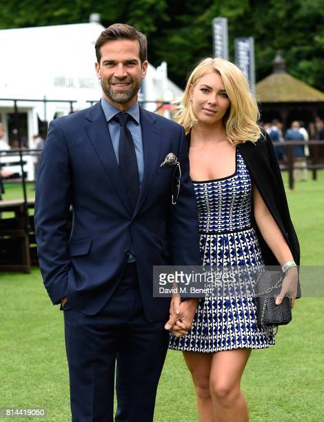 Gethin Jones and Katja Zwara attend day two of the three day Festival in Newmarket the home of horseracing at Newmarket Racecourse on July 14 2017 in...