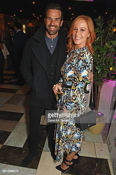 Gethin Jones and SarahJane Mee attend the launch of Bunga Bunga in Covent Garden on January 12 2017 in London England