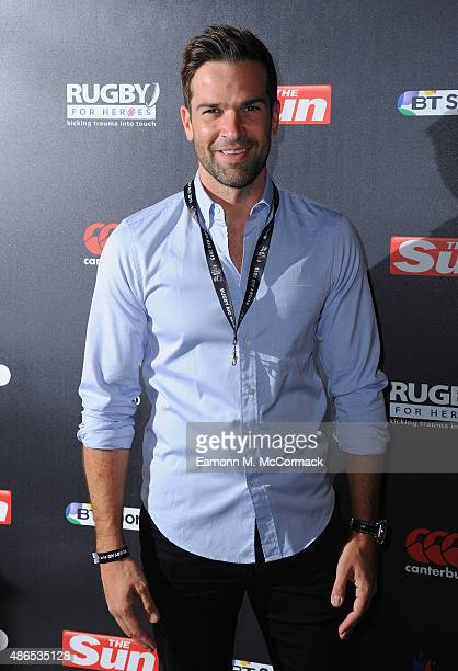 Gethin Jones attends the after party for Rugby Aid 2015 at Twickenham Stadium on September 4 2015 in London England