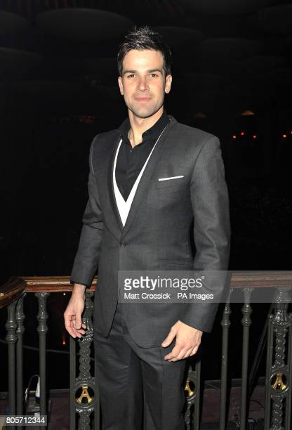 Gethin Jones in the Tapis Rouge bar during the opening night of Varekai by the Cirque Du Soleil at Royal Albert Hall in London