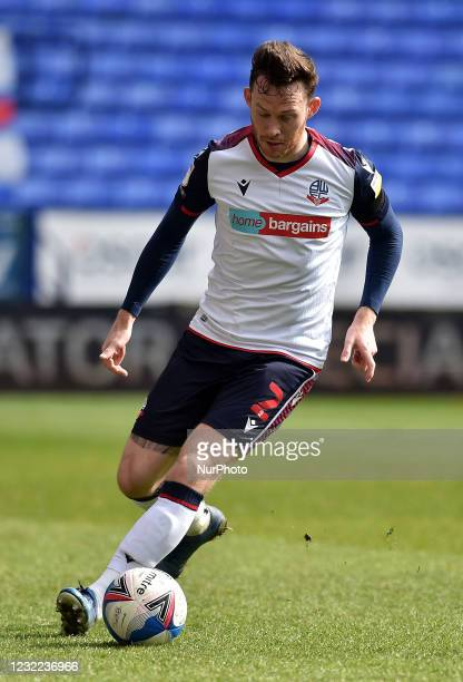 Gethin Jones of Bolton Wanderers during the Sky Bet League 2 match between Bolton Wanderers and Harrogate Town at the Reebok Stadium, Bolton, England...