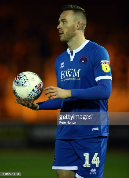 Gethin Jones of Carlisle United in action during the Sky Bet League Two match between Carlisle United and Northampton Town at Brunton Park on October...