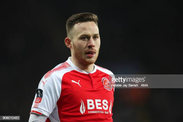 Gethin Jones of Fleetwood Town during The Emirates FA Cup Third Round Replay match between Leicester City and Fleetwood Town at The King Power...