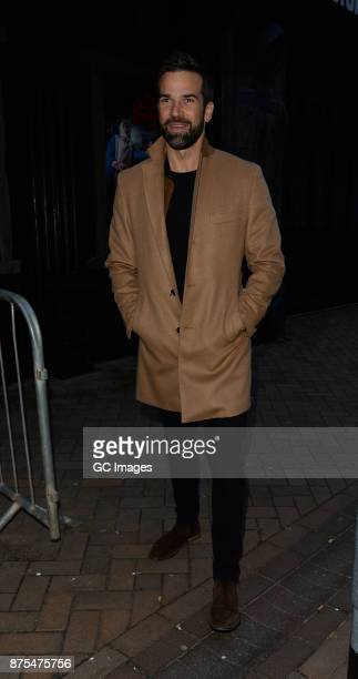 Gethin Jones seen leaving the Tower Ballroom after Strictly rehearsals ahead of Saturday's live show on November 17 2017 in Blackpool England