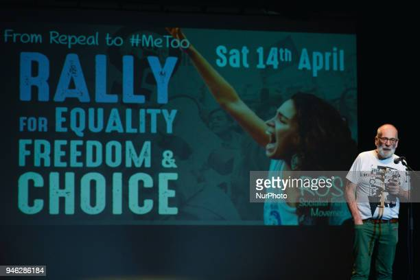 Gethin Roberts from Lesbian amp Gays Support the Miners speaks during a Rally for Equality Freedom amp Choice organised by ROSA an Irish Socialist...
