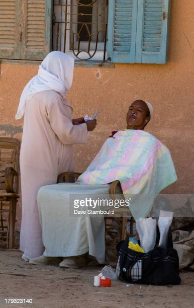 Getting a shave, Cairo, Egypt