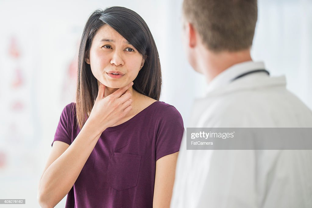 Getting Advice on a Cold : Stock Photo