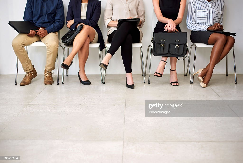 Getting an interview is a foot in the door : Stock Photo