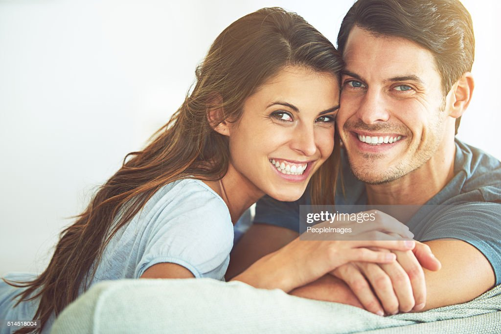 Getting comfy with my man : Stock Photo