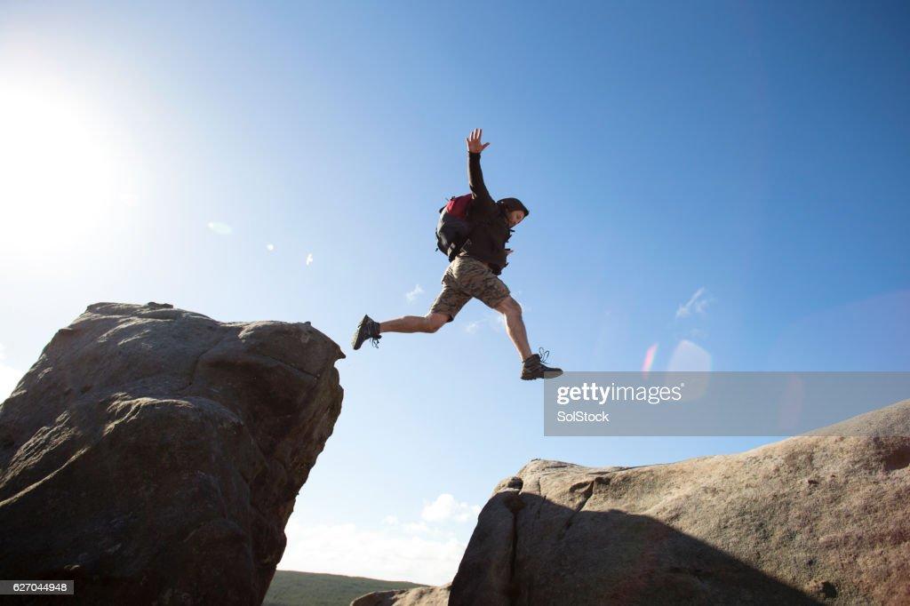 Getting Down is the Hard Bit : Stock-Foto