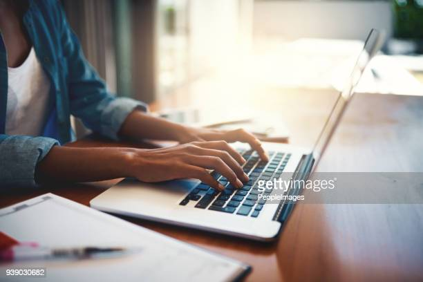 getting down to work - using computer stock photos and pictures