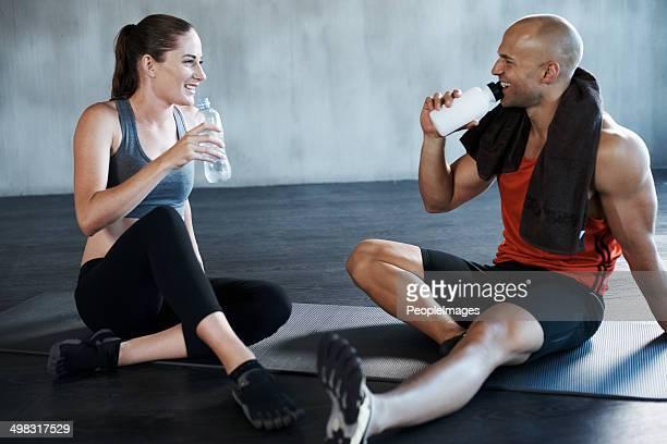 Ausreichend Flüssigkeit vor einem harten Training ist wichtig