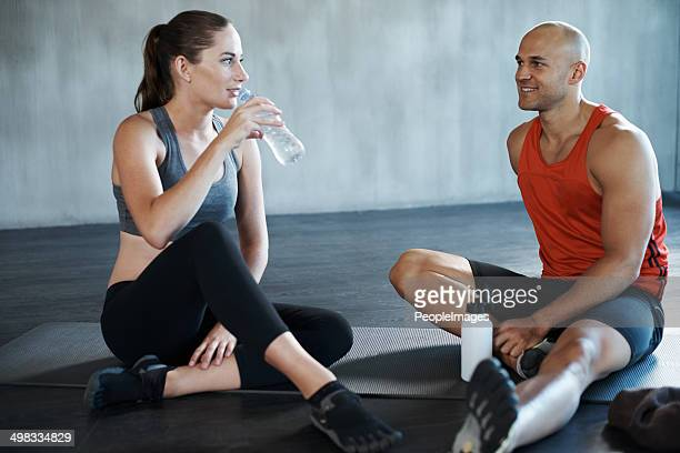 Getting enough fluids before the workout