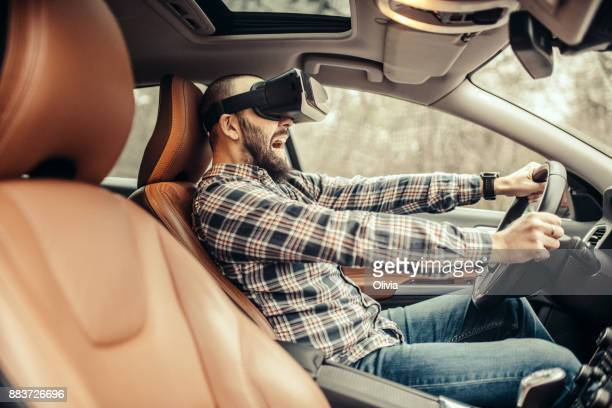 Getting experience using VR-headset in the car