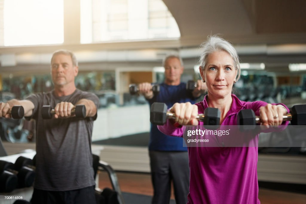 Getting fit with friends is the best fun to have : Stock Photo