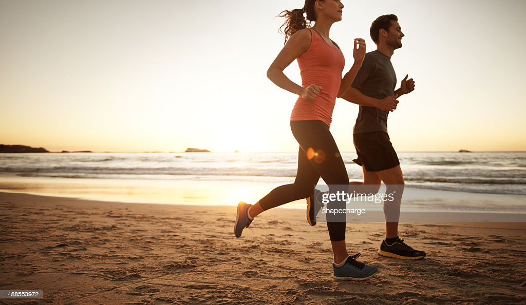 Getting fitter one step at a time : Stock Photo