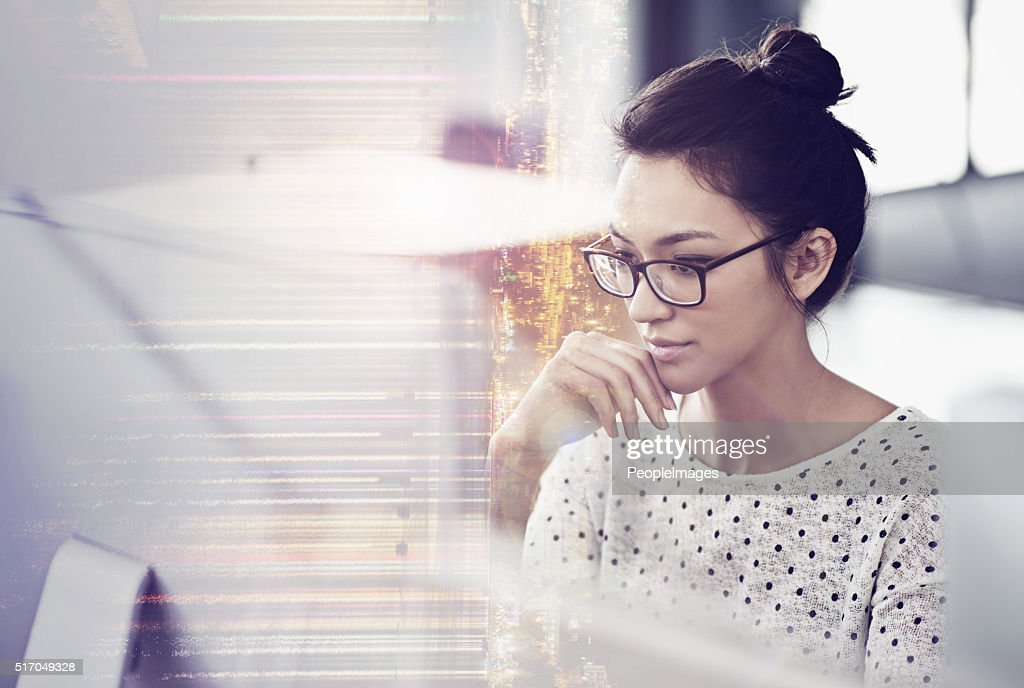 Getting focused on the project : Stock Photo
