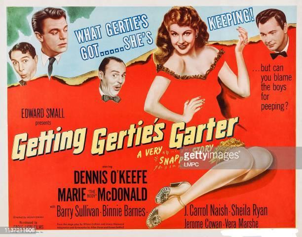 Getting Gertie's Garter poster US title card Marie McDonald Dennis O'Keefe Barry Sullivan J Carrol Naish Jerome Cowan 1945