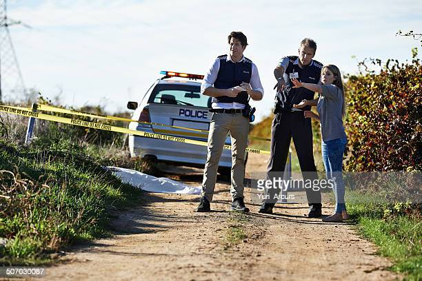getting her statement - more dead cops stock pictures, royalty-free photos & images