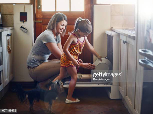 Getting her to help with the chores from a young age