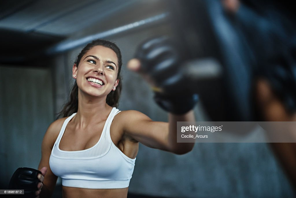 Getting in fighting shape : Stock Photo