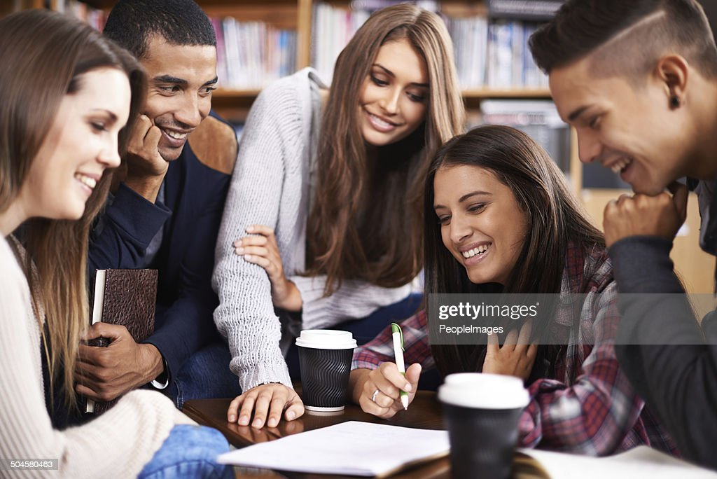 Getting in on the group action : Stock Photo