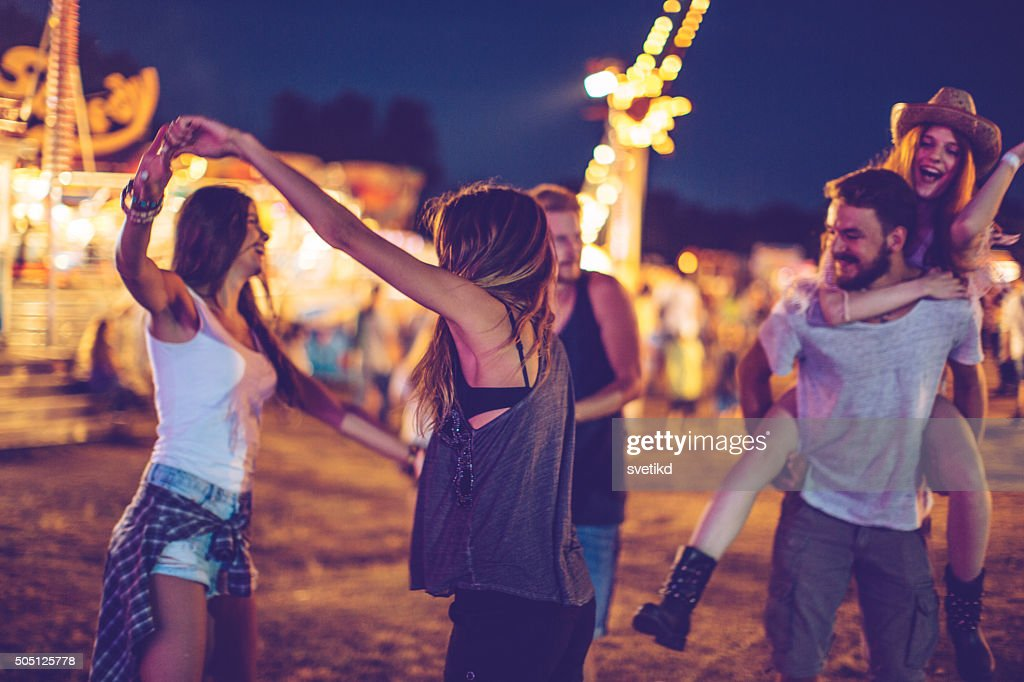 Getting into the spirit of the festival : Stock Photo