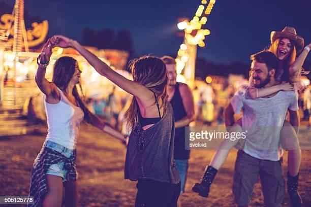 Sich in die richtige Stimmung für das festival