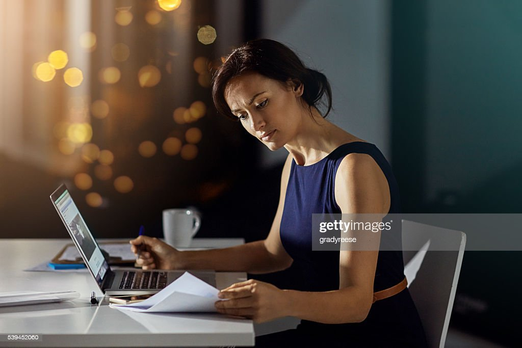 Getting more work done when the office is empty : Stock Photo