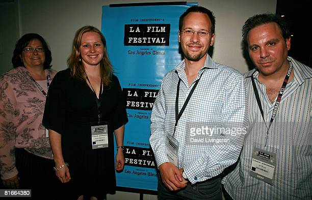 Getting Paid in the Digital Age panel members Sallie Weaver Danae Ringelmann Jay Baage and Jeff Rosen pose at the 2008 Los Angeles Film Festival's...