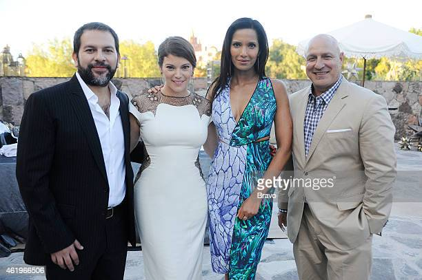 TOP CHEF 'Getting Prickly in Mexico' Episode 1213 Pictured Enrique Olivera Gail Simmons Padma Lakshmi Tom Colicchio