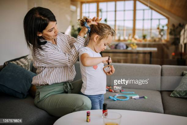 getting ready for a fun-filled day - kids makeup stock pictures, royalty-free photos & images