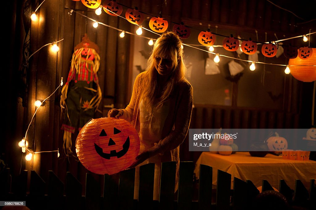 Getting ready for Halloween : Stock Photo