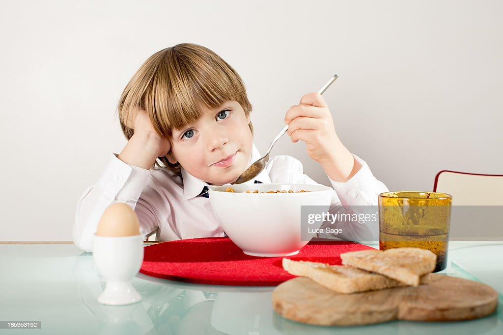 Getting ready for School : Stock Photo