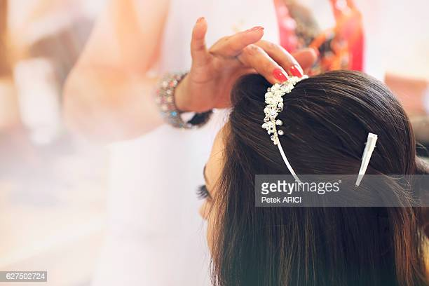 Getting ready for the happiest day of her life