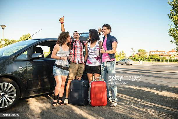 getting ready for the summer vacations - car pooling stock photos and pictures