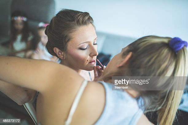 Getting ready for wedding