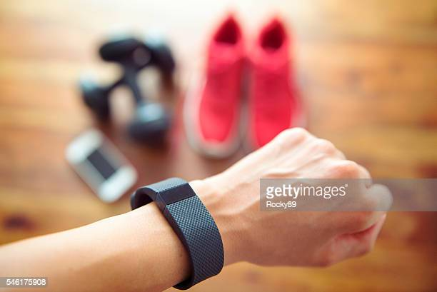 Getting ready for your daily workout with an activiy tracker