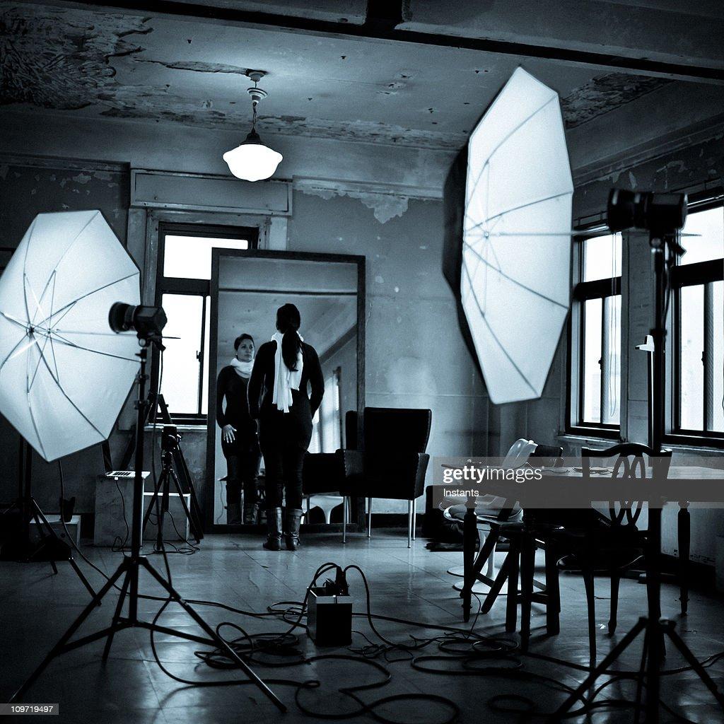 Getting ready : Bildbanksbilder