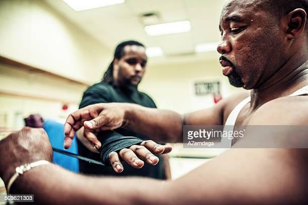 getting ready - boxing gloves bildbanksfoton och bilder