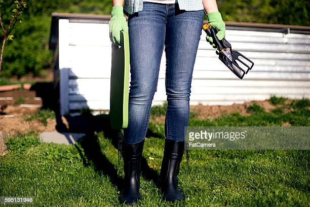 getting ready to garden outdoors - fatcamera stock pictures, royalty-free photos & images