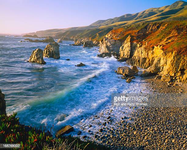 getting refreshed at the big sur coast of california (p) - big sur stock photos and pictures