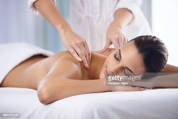 getting rid of all my tension - massage therapist stock pictures, royalty-free photos & images