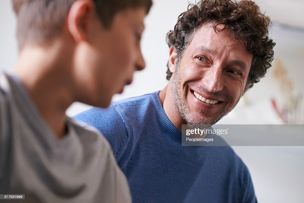 Getting some man time in : Stock Photo