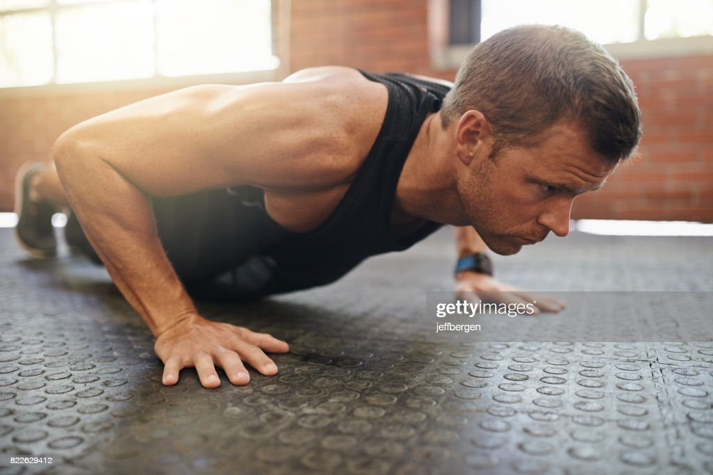 Getting stronger with each lift : Stock Photo
