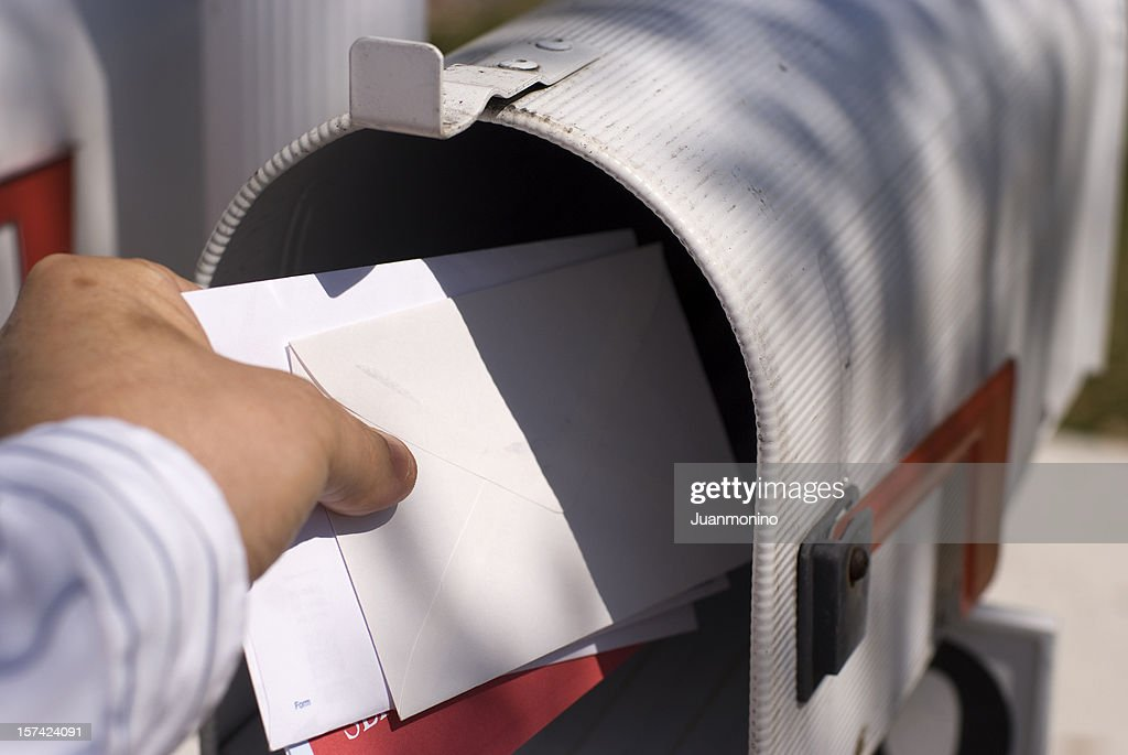 Getting the mail : Stock Photo