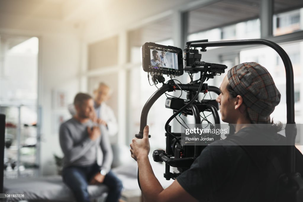 Getting the right shots : Stock Photo