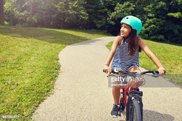 getting to know nature on wheels - cycling helmet stock photos and pictures