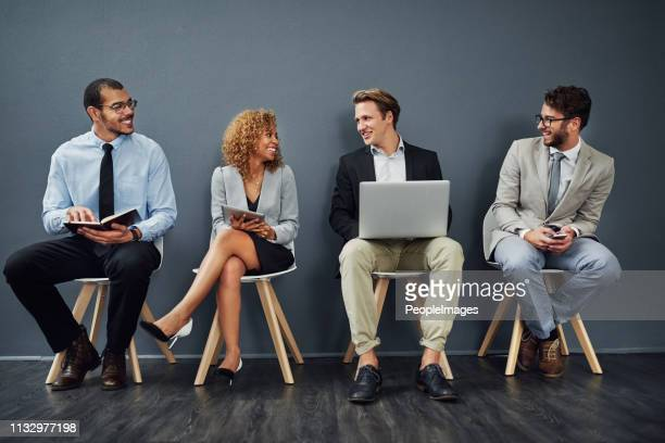 getting to know their potential colleagues - candidate stock pictures, royalty-free photos & images